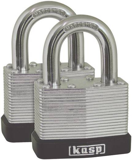 Kasp K13040D2 Hangslot 40 mm Zilver Sleutelslot