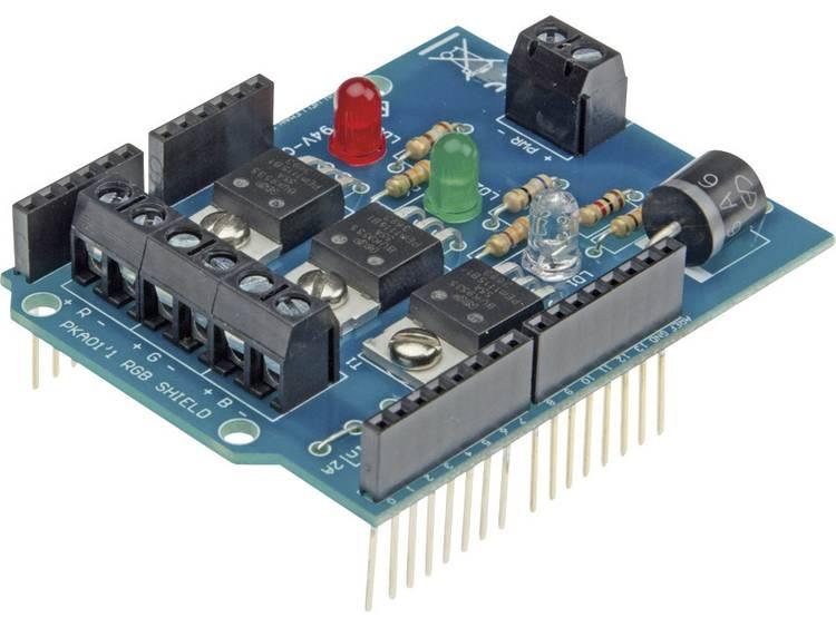 Arduino Shield RGB Toepassing: Het aansturen van 3 dimkanalen (1x RG