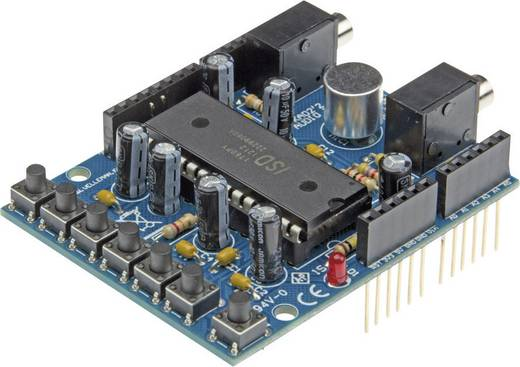 Velleman VMA02 Audio Shield Geschikt voor (Arduino boards): Arduino UNO