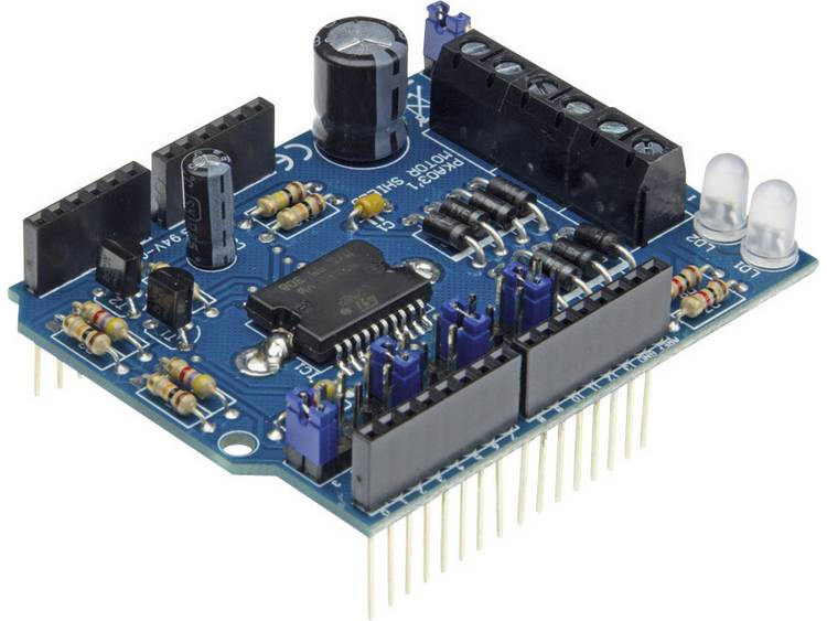 Arduino Shield Motor & Power Toepassing: Aansturen relais, solenoïde