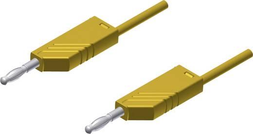 SKS Hirschmann MLN 25/2,5 ge Meetsnoer [ Banaanstekker 4 mm - Banaanstekker 4 mm] 0.25 m Geel