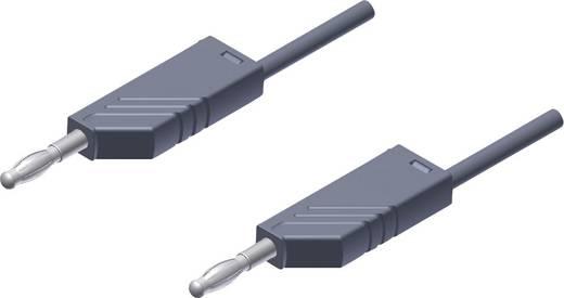 SKS Hirschmann MLN 25/2,5 grijs Meetsnoer [ Banaanstekker 4 mm - Banaanstekker 4 mm] 0.25 m Grijs