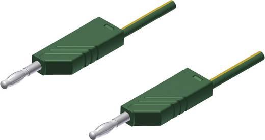 SKS Hirschmann MLN 25/2,5 ge/gn Meetsnoer [ Banaanstekker 4 mm - Banaanstekker 4 mm] 0.25 m Geel-groen