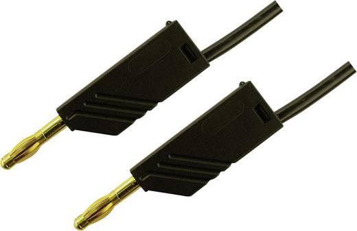 Meetsnoer SKS Hirschmann MLN 25/2,5 schwarz / black Au [ Banaanstekker 4 mm - Banaanstekker 4 mm] 0.25 m Zwart