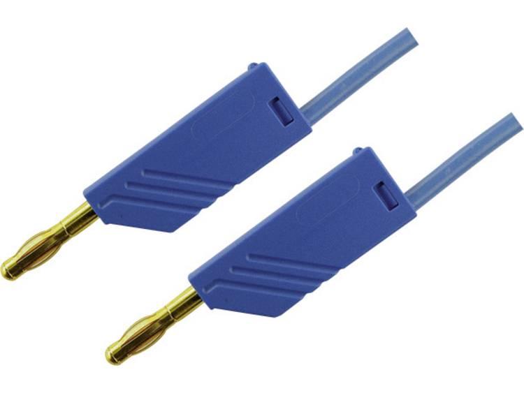 Meetsnoer [Banaanstekker 4 mm Banaanstekker 4 mm] 0.25 m Blauw SKS Hirschmann