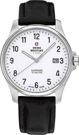 Swiss Military by Chrono Herrenuhr Analoog Horloge RVS Zilver