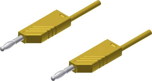 Meetsnoer SKS Hirschmann MLN 200/2,5 gelb [ Banaanstekker 4 mm - Banaanstekker 4 mm] 2 m Geel