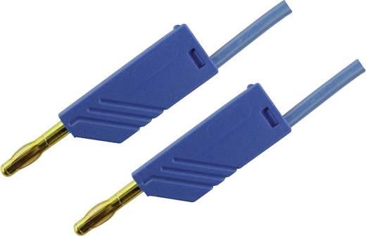 SKS Hirschmann MLN 200/2,5 Au blau Meetsnoer [ Banaanstekker 4 mm - Banaanstekker 4 mm] 2 m Blauw