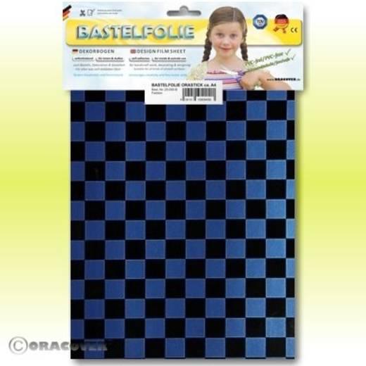 Oracover Orastick Fun 4 48-057-071-B Plakfolie (l x b) 300 mm x 208 cm Parelmoer blauw-zwart