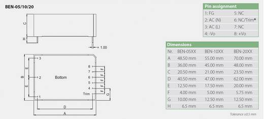 Bicker Elektronik BEN-0505 AC/DC printnetvoeding 5 V/DC 1 A 5 W