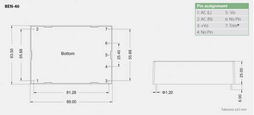 Bicker Elektronik BEN-4012 AC/DC printnetvoeding 12 V/DC 3.33 A 40 W