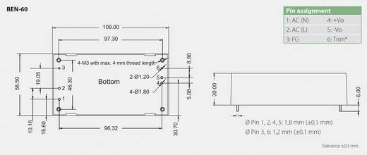 Bicker Elektronik BEN-6015 AC/DC printnetvoeding 15 V/DC 5 A 60 W
