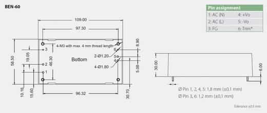 Bicker Elektronik BEN-6024 AC/DC printnetvoeding 24 V/DC 2.5 A 60 W