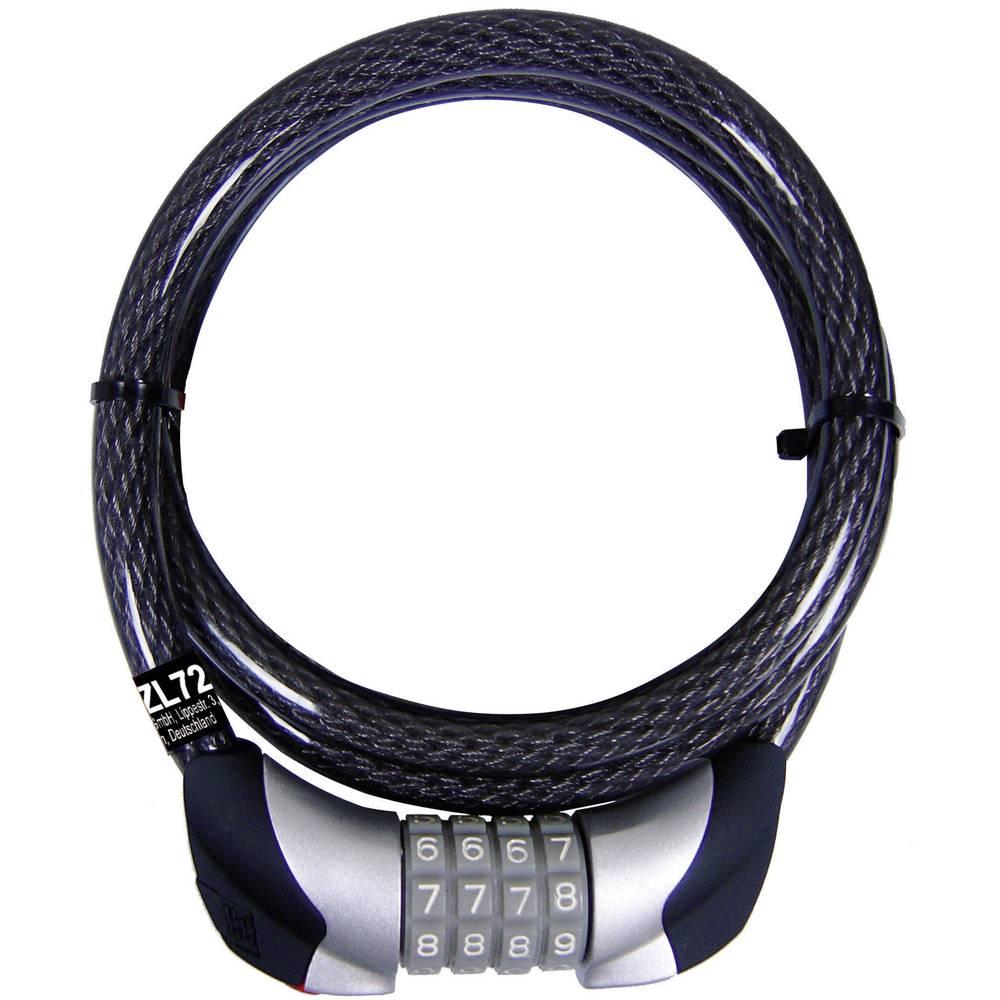Security Plus Cijfer-kabelslot zwart, fietsslot, fiets accessoires ZL 72