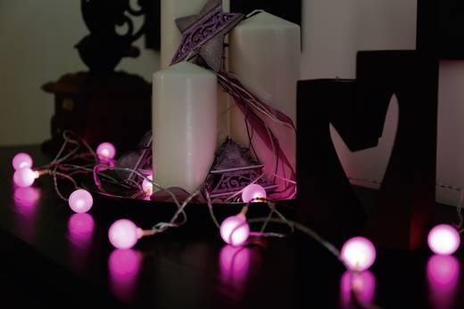 Motief lichtketting Bollen Binnen Werkt op het lichtnet 20 LED Lila Verlichte lengte: 5.7 m Polarlite 679998