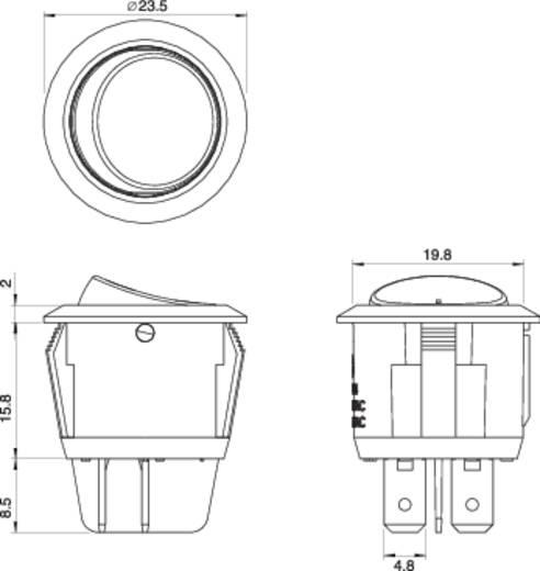 SCI R13-244A-02 BLACK Wipschakelaar 250 V/AC 10 A 2x uit/aan vergrendelend 1 stuks