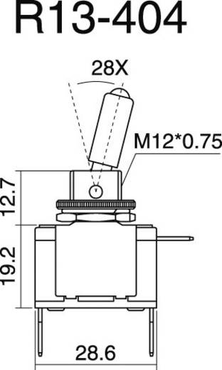 SCI R13-404-SQ RED Auto tuimelschakelaar 12 V/DC 20 A 1x uit/aan vergrendelend 1 stuks