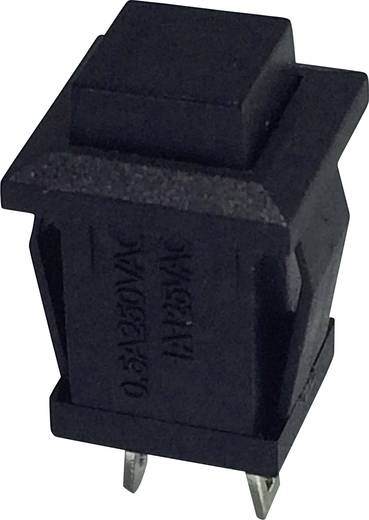 SCI R13-57B-05BK Druktoets 250 V/AC 0.5 A 1x aan/(uit) schakelend 1 stuks
