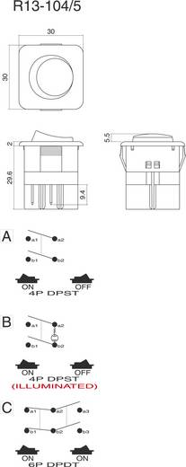 SCI R13-104B-01 Wipschakelaar 250 V/AC 10 A 1x uit/aan vergrendelend 1 stuks