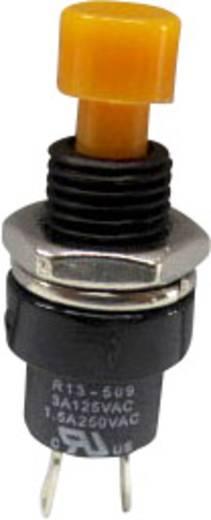 SCI R13-509A-05YL Druktoets 250 V/AC 1.5 A 1x uit/(aan) schakelend 1 stuks