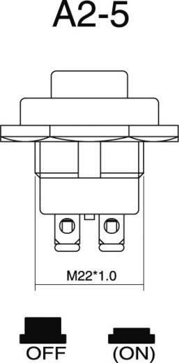 SCI A2-5A Auto druktoets 24 V/DC 10 A 1x uit/(aan) schakelend 1 stuks