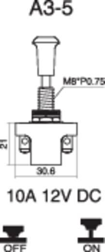 SCI A3-5AC-SQ Auto trekschakelaar 12 V/DC 10 A 1x uit/aan vergrendelend 1 stuks