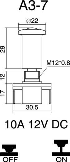 SCI A3-7 Auto trekschakelaar 12 V/DC 10 A 1x uit/aan vergrendelend 1 stuks
