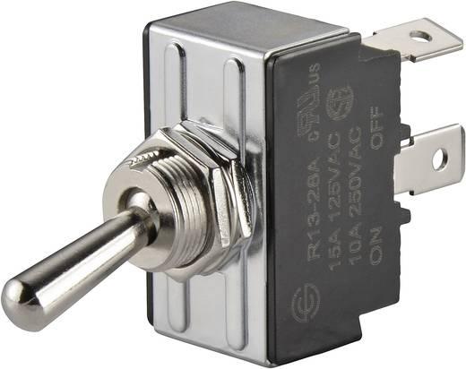 SCI R13-28C-01 Tuimelschakelaar 250 V/AC 10 A 1x aan/aan vergrendelend 1 stuks
