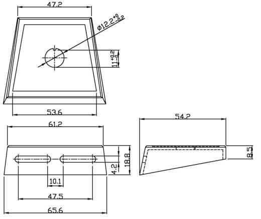 SCI PR18-A1 Montageplaat 1-weg 1 stuks