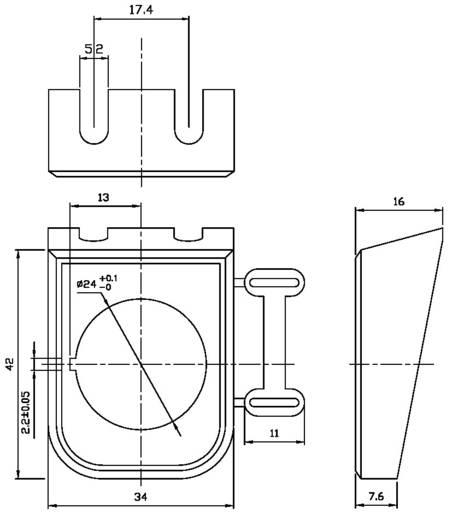 SCI PR18-B1 Montageplaat 1 stuks