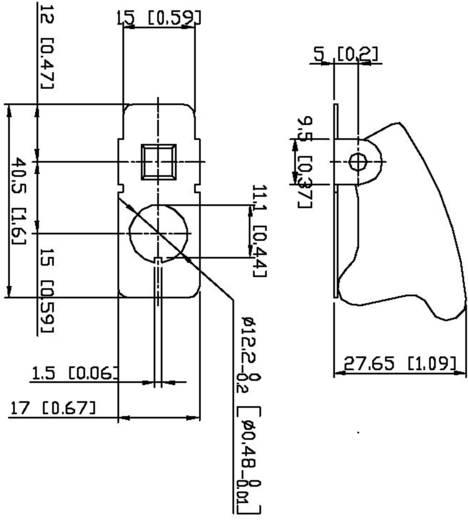 SCI R17-10B RED Veiligheidsafdekking Rood transparant (R17-10B) 1 stuks