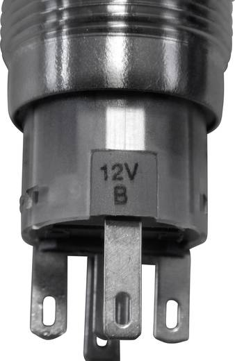 LAS1-AGQ-11E, BL Vandalismebestendige druktoets 250 V/AC 5 A 1x aan/(aan) IP67 schakelend 1 stuks