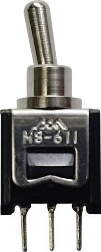 611F Tuimelschakelaar 250 V/AC 0.15 A 2x aan/aan vergrendelend 1 stuks