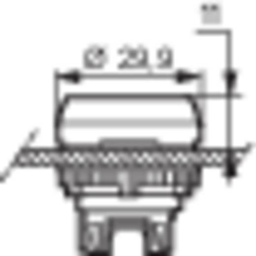 BACO L21AA01 Druktoets Kunststof frontring, Verchroomd Rood 1 stuks