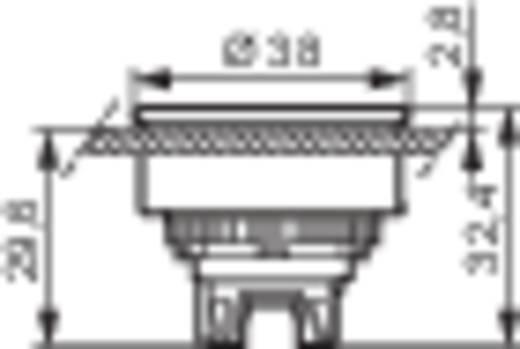 BACO L23AA01 Druktoets Metalen frontring, Verchroomd Rood 1 stuks