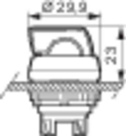 BACO L21KA03 Keuzetoets Kunststof frontring, Verchroomd Zwart 1 x 45 ° 1 stuks