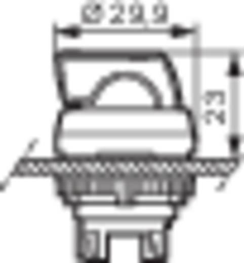 BACO L21KB03 Keuzetoets Kunststof frontring, Verchroomd Zwart 1 x 45 ° 1 stuks