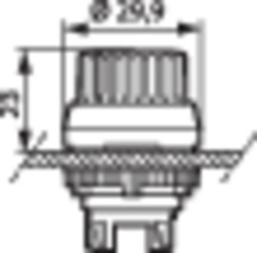 BACO L21TB03 Keuzetoets Kunststof frontring, Verchroomd Zwart 1 x 45 ° 1 stuks