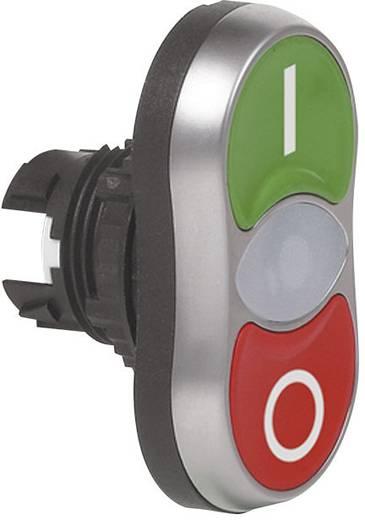 BACO L61QB21 Dubbele drukknop Kunststof frontring, Verchroomd Groen/rood 1 stuks