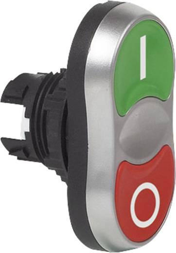 BACO L61QB21B Dubbele drukknop Kunststof frontring, Verchroomd Groen/rood 1 stuks
