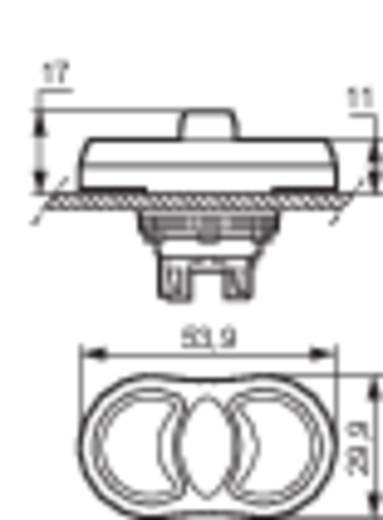 BACO L61BA22 Drievoudige drukknop Kunststof frontring, Verchroomd Groen, Rood, Groen 1 stuks