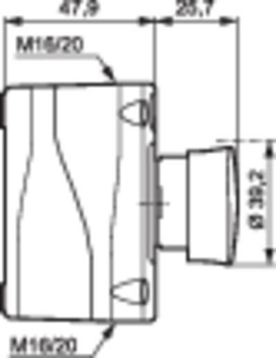 Paddestoelschakelaar In behuizing 240 V/AC 2.5 A 1x NC BACO LBX10410 IP66 1 stuks