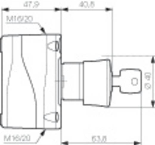 Paddestoelschakelaar In behuizing 240 V/AC 2.5 A 2x NC BACO LBX11302 IP66 1 stuks
