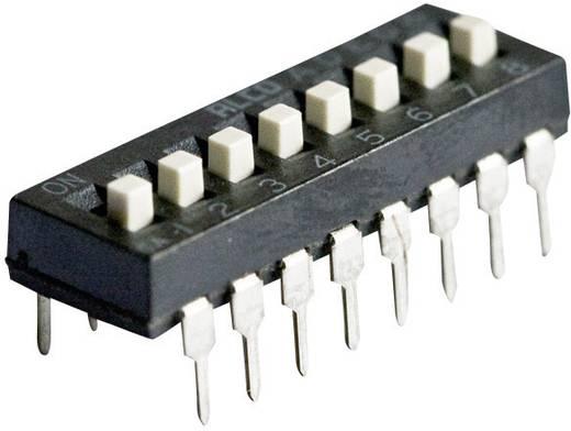 TE Connectivity ADE0804 DIP-schakelaar Aantal polen 8 Standaard 1 stuks