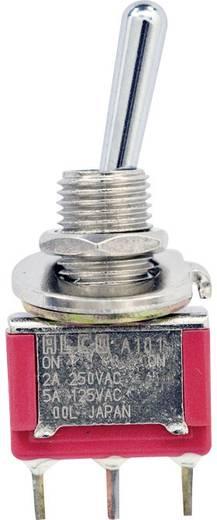 TE Connectivity 4-1825136-5 Tuimelschakelaar 250 V/AC 2 A 1x aan/aan vergrendelend 1 stuks