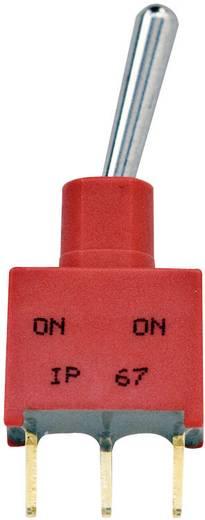 TE Connectivity 3-1825142-1 Tuimelschakelaar 250 V/AC 2 A 1x aan/uit/aan vergrendelend 1 stuks