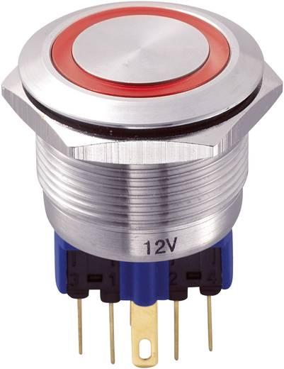 TRU Components GQ22-11E/R/12V Vandalismebestendige druktoets 250 V/AC 5 A 1x aan/(aan) IP65 schakelend 1 stuks