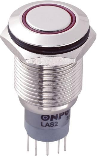 LAS2GQF-22E/R/12V/N/P Vandalismebestendige druktoets 250 V/AC 3 A 2x aan/(aan) IP65 schakelend 1 stuks