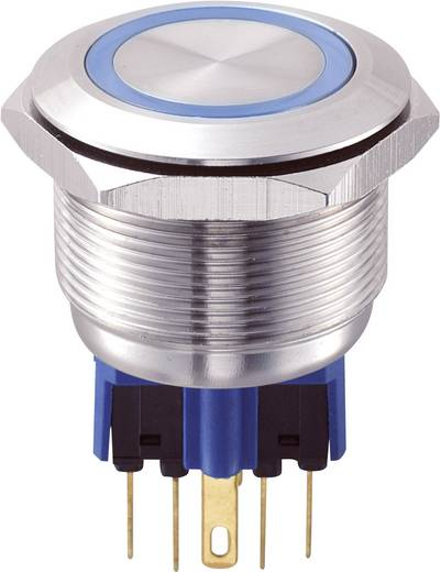 GQ25-11E/B/12V Vandalismebestendige druktoets 250 V/AC 5 A 1x aan/(aan) IP65 schakelend 1 stuks