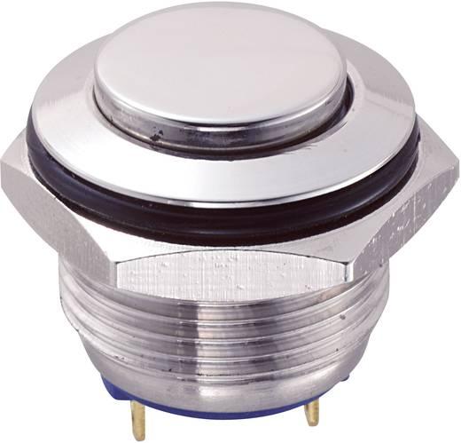 TRU Components GQ16H-10/J/S Vandalismebestendige druktoets 48 V/DC 2 A 1x uit/(aan) IP65 schakelend 1 stuks